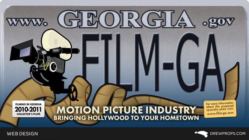 Film Georgia License Plates