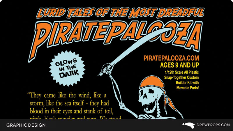 Glow-in-the-Dark Skeleton Pirate T-Shirt